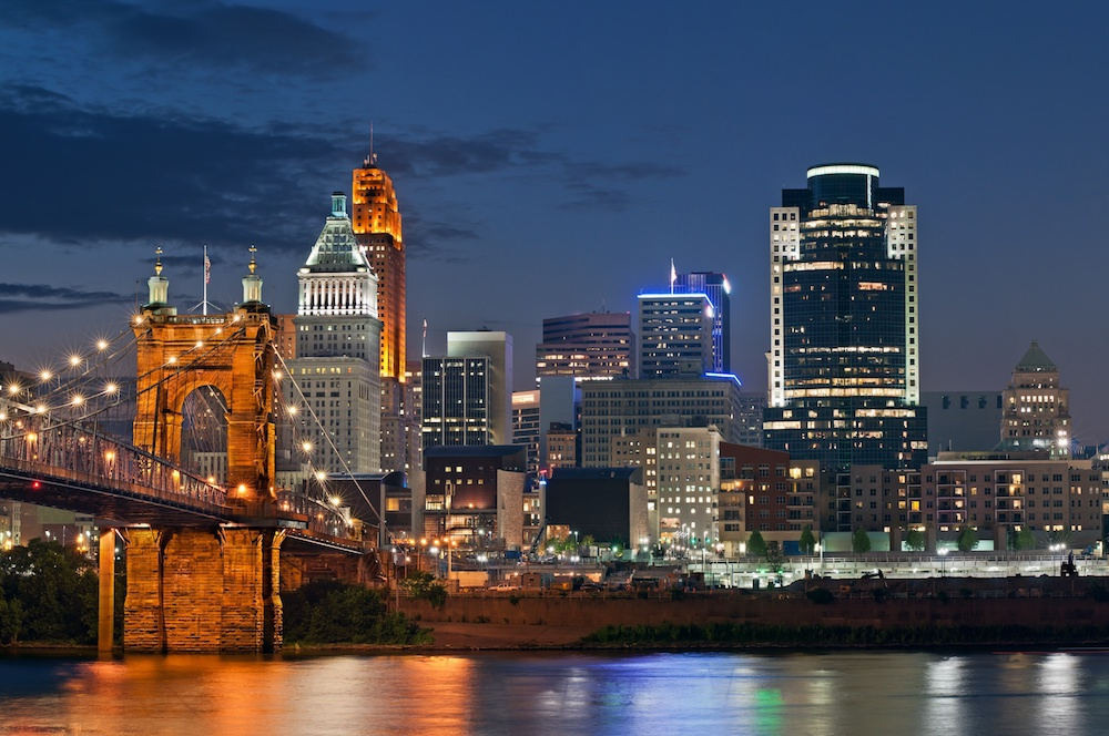Cincinnati at night
