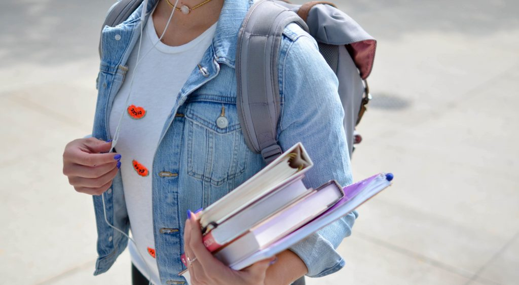 Image of Student with books