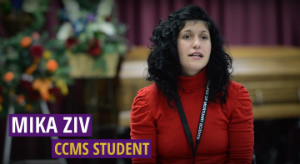 CCMS student Mika Ziv