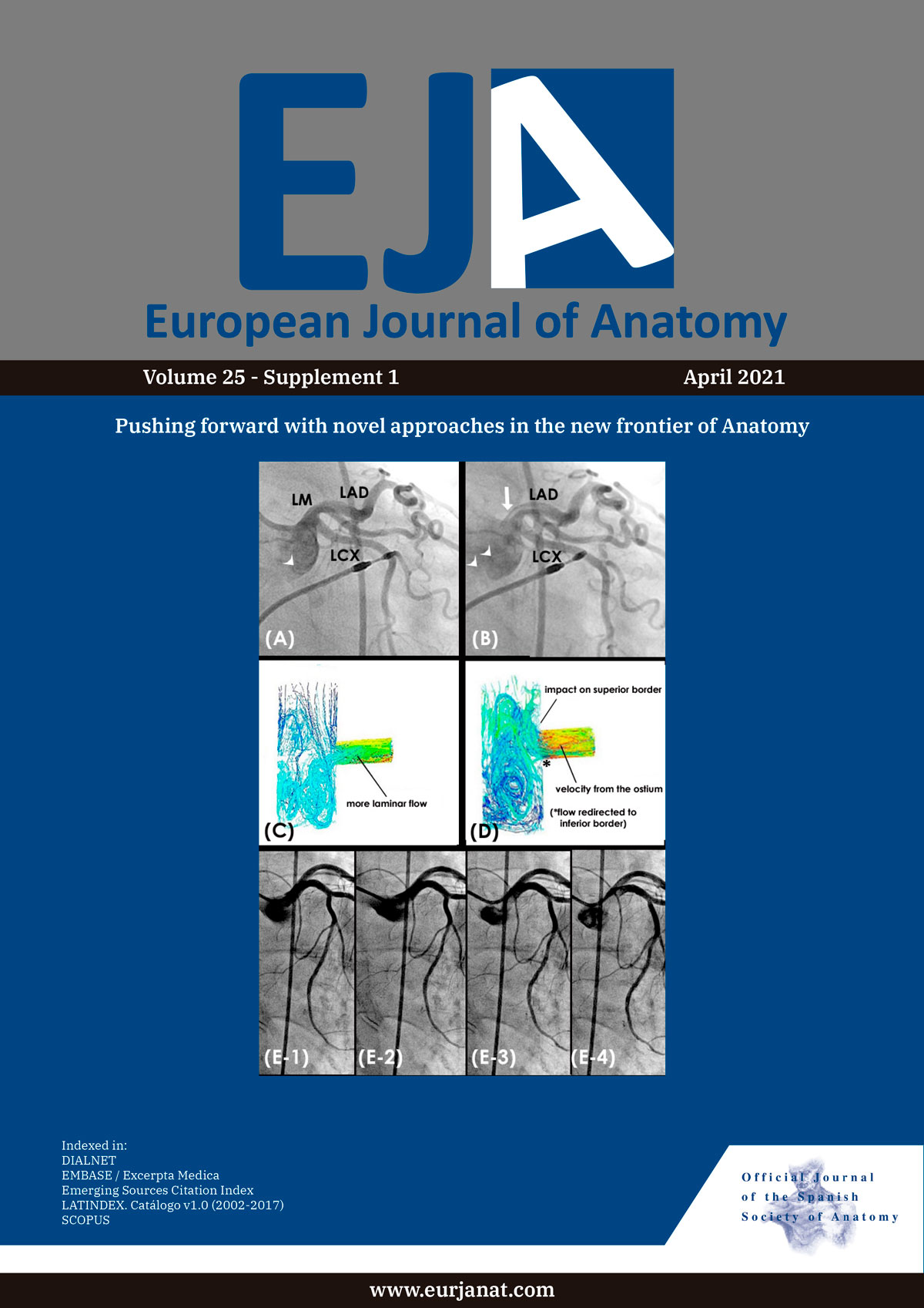 cover of European Journal of Anatomy
